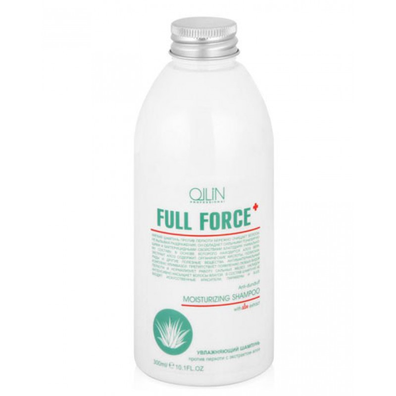 OLLIN FULL FORCE Увлажняющий шампунь против перхоти с экстрактом алоэ, 300 мл