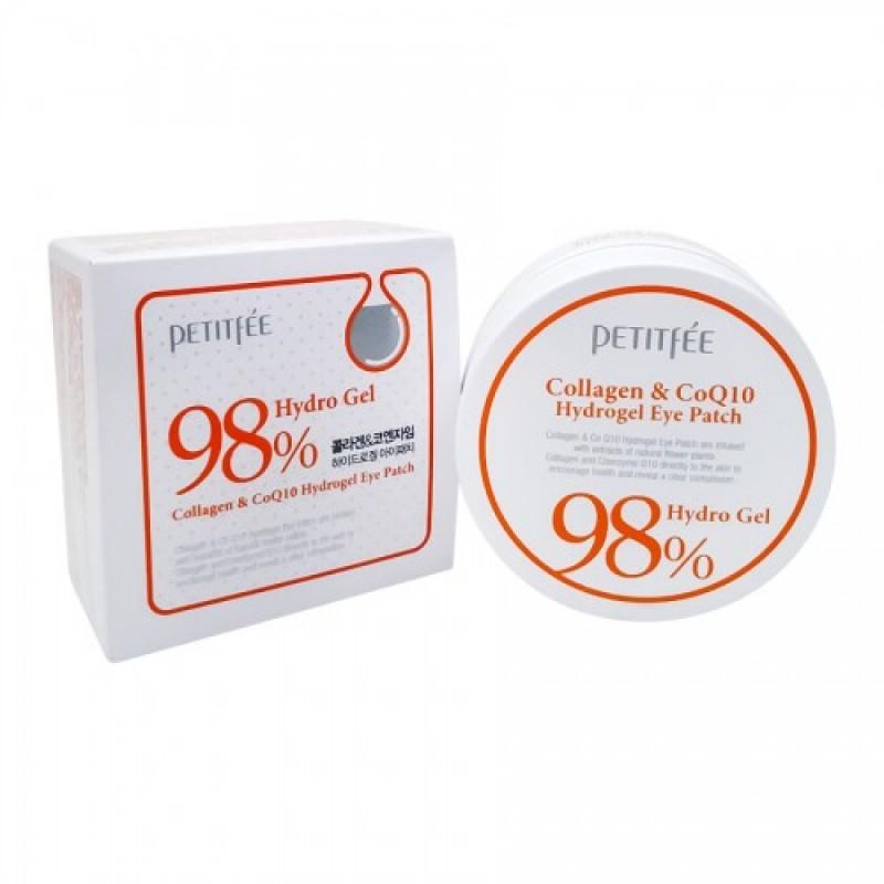 Collagen/CoQ10 Hydrogel Eye Patch / Набор патчей для век гидрогелевых КОЛЛАГЕН/Q10, 60 шт
