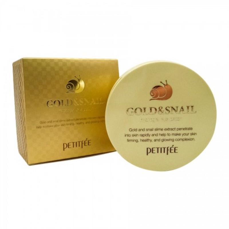 Gold/Snail Hydrogel Eye Patch / Набор патчей для век гидрогелевых ЗОЛОТО/УЛИТКА, 60 шт